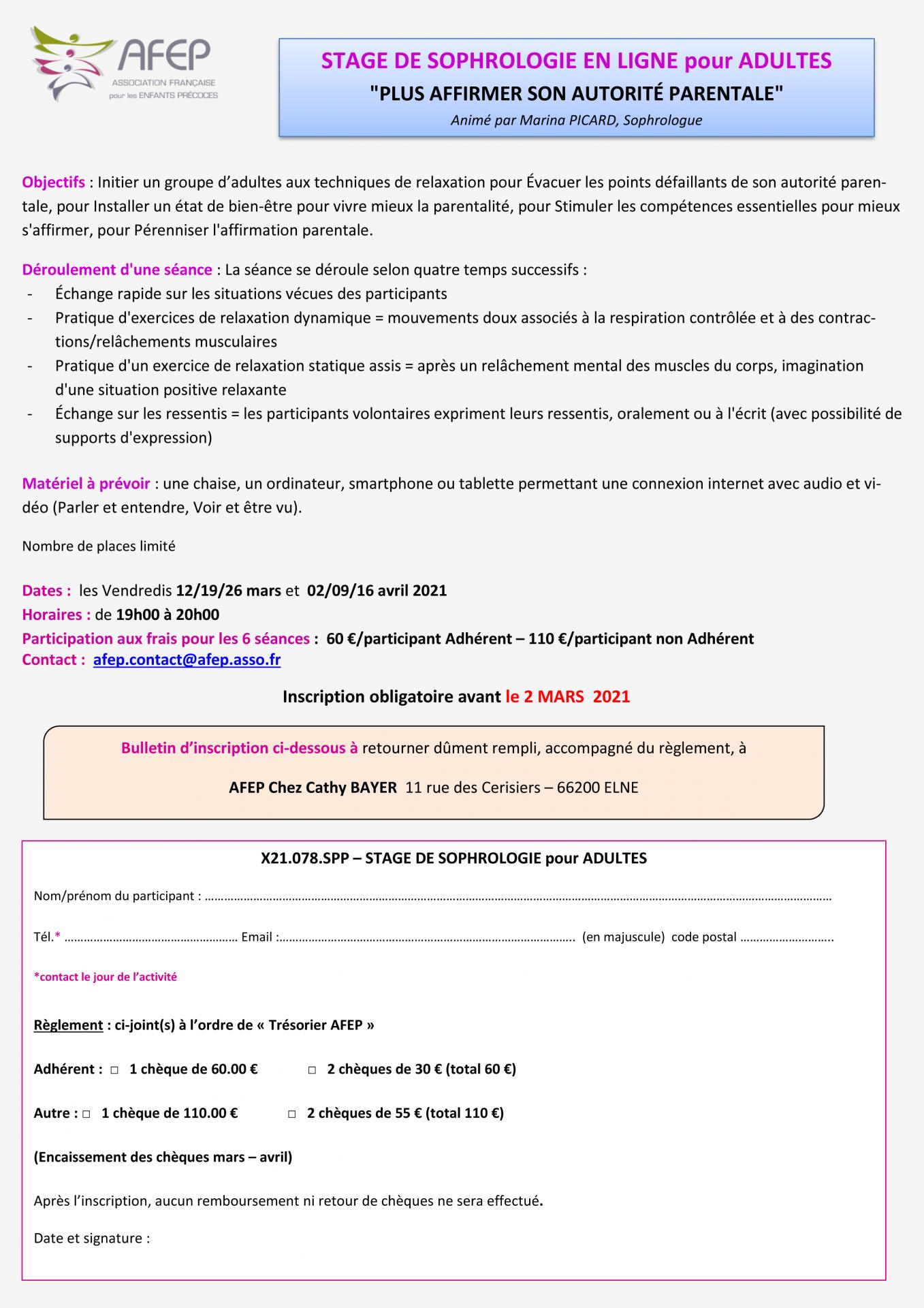 6 stage sophro adultes 12 19 26 fevrier et avril